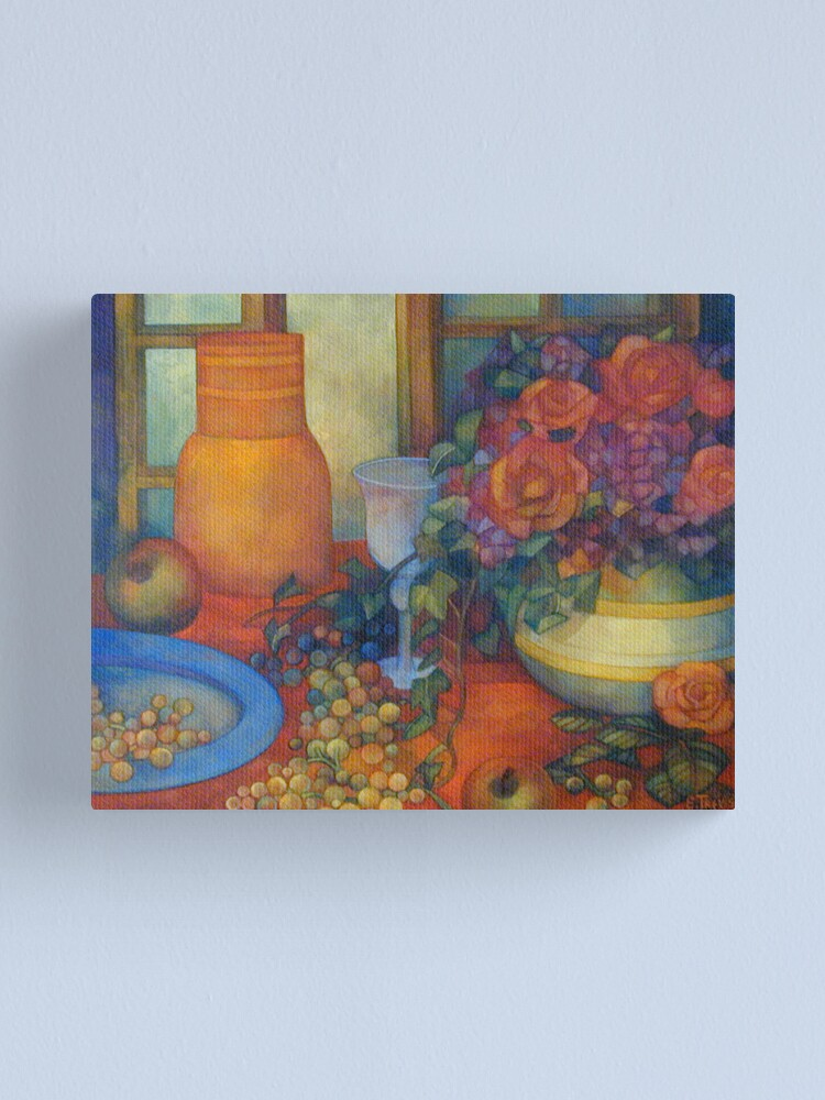 Alternate view of still life with roses Canvas Print
