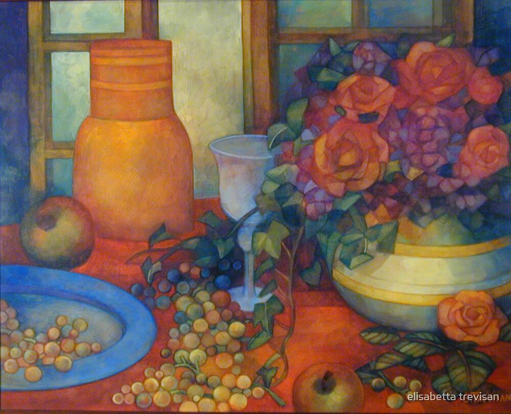 still life with roses by elisabetta trevisan