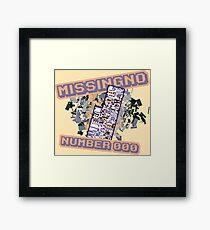Missingno Number 0 Framed Print