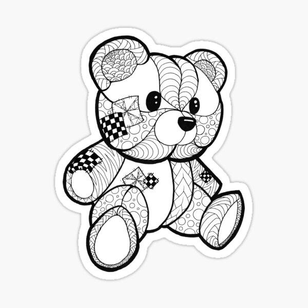 Color your Teddy Bear Sticker