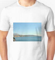 30 September 2016 The Aegean sea and the caldera in Santorini, Greece  T-Shirt