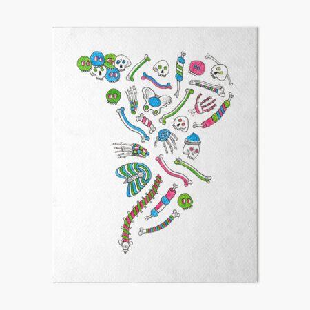 Marshmallow skull Art Board Print