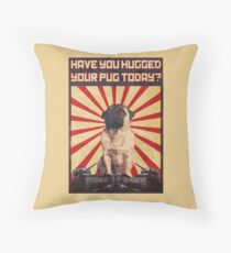 Propaganda Pug Throw Pillow