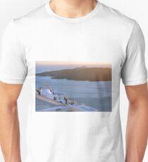 30 September 2016 People admiring the sunset on terrace in Santorini, Greece T-Shirt