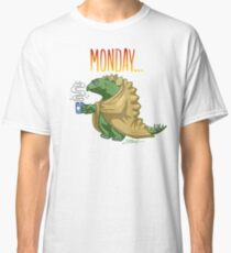 Monday morning of a Stegosaurus Classic T-Shirt