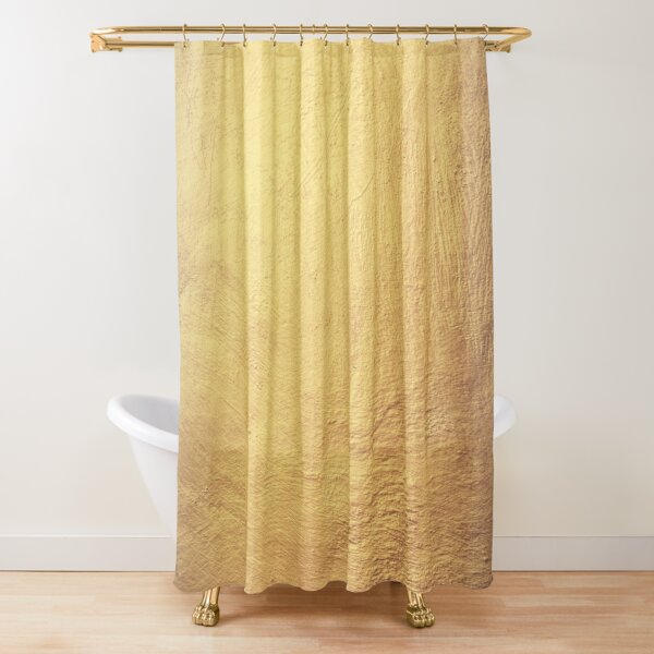 Champagne Gold Metallic Foil Shower Curtain