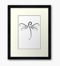 Swirly Dragonfly Tee Framed Print