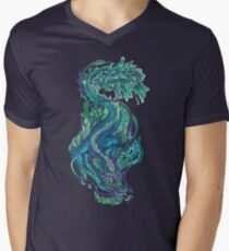 Imperial Water Dragon V-Neck T-Shirt