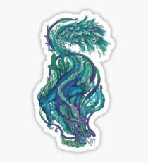 Imperial Water Dragon Glossy Sticker