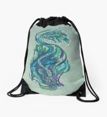 Imperial Water Dragon Drawstring Bag