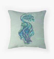 Imperial Water Dragon Throw Pillow