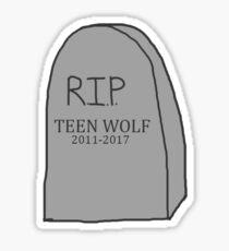 TEEN WOLF RIP Sticker
