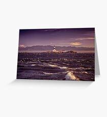 Race Rocks Lighthouse beautiful dramatic sunset scenery Vancouver Island art print Greeting Card