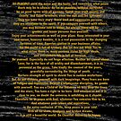 Gold Desiderata Poem on Space Dust Black Marble by Desiderata4u