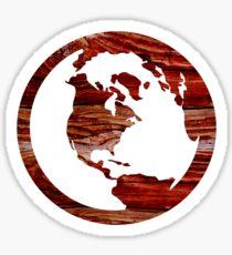 Wooden Globe Design  Sticker