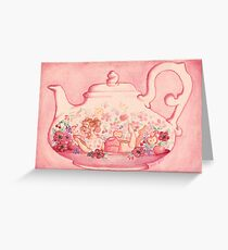 Red Berry Teapot Greeting Card