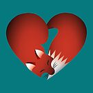 Fox Heart by evilkidart