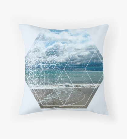 Nature and Geometry - The beach Throw Pillow