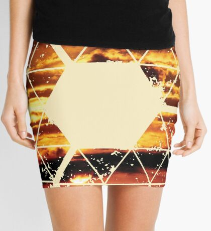 Nature and Geometry - Sunset Sky Mini Skirt