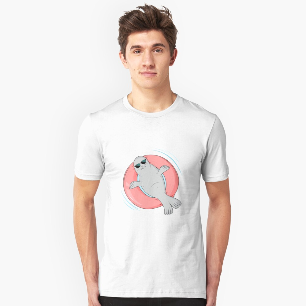 Tanning seal Unisex T-Shirt Front