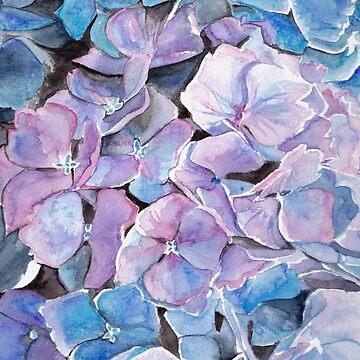 Watercolour Hydrangea by SMalik