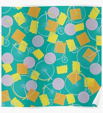 Colorful and playful pattern Poster