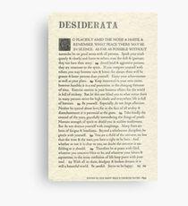 The Original Desiderata Poster by Max Ehrmann Metal Print