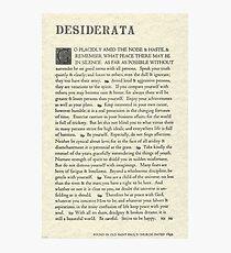 The Original Desiderata Poster by Max Ehrmann Photographic Print
