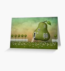 pear nature fairy Greeting Card