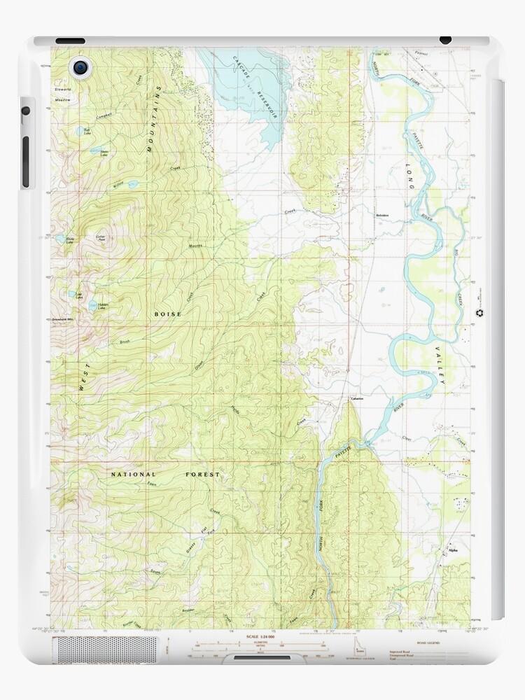 USGS TOPO Map Idaho ID Alpha 235063 1985 24000 by wetdryvac