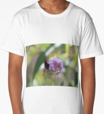 Black Butterfly Long T-Shirt