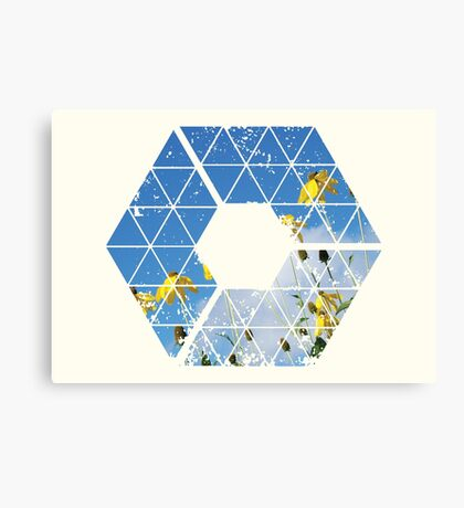 Nature and Geometry - Yellow Flowers Canvas Print