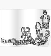 Fleetwood Mac - Rumours // Typographical Ilustration Poster