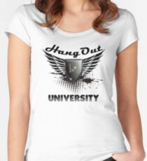 Geek Funny Hang Out with Friends University t shirt  Women's Fitted Scoop T-Shirt