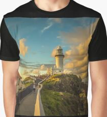 They gather to watch the Sunset at Byron Bay Lighthouse Graphic T-Shirt