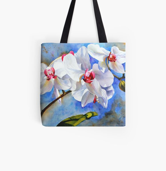 Dancing Orchids All Over Print Tote Bag