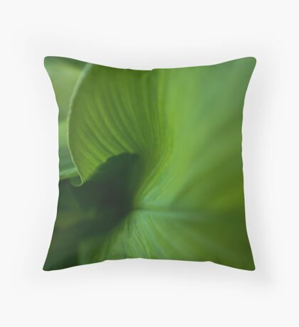 Wave of Green Throw Pillow