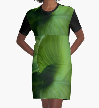 Wave of Green Graphic T-Shirt Dress