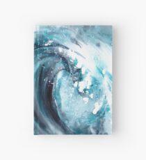 watercolor storm wave Hardcover Journal