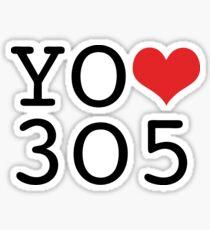 Yo amo 305 - I Love the 305 Sticker