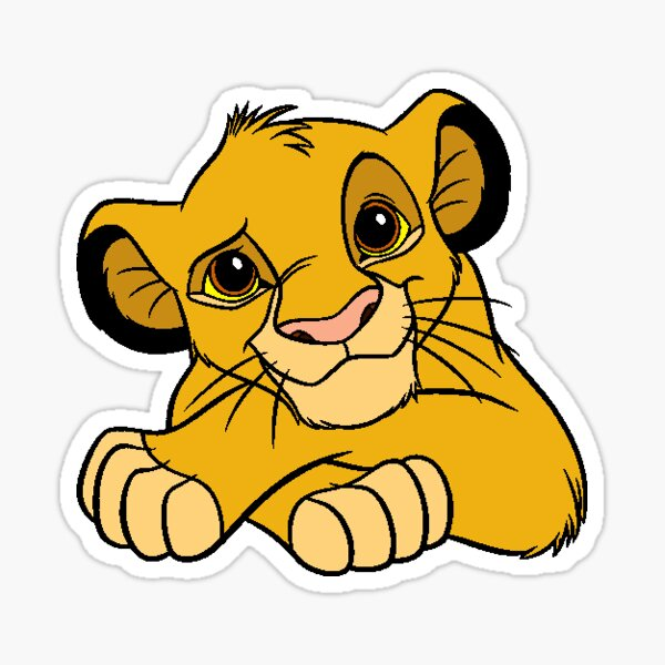 Simba le Roi Lion Sticker