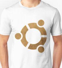 Wooden Ubuntu Logo Unisex T-Shirt