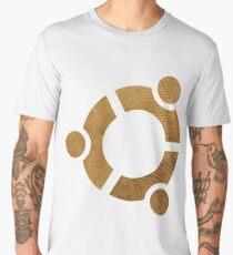 Wooden Ubuntu Logo Men's Premium T-Shirt