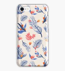 Succulent garden pattern on cream iPhone Case/Skin