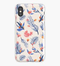Succulent garden pattern on cream iPhone Case/Skin