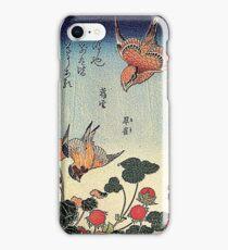 'Wild Strawberries and Birds' by Katsushika Hokusai (Reproduction)  iPhone Case/Skin