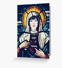 The Saints of Pop Music - Saint Carly Greeting Card