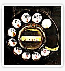 Vintage Phone Dial Sticker