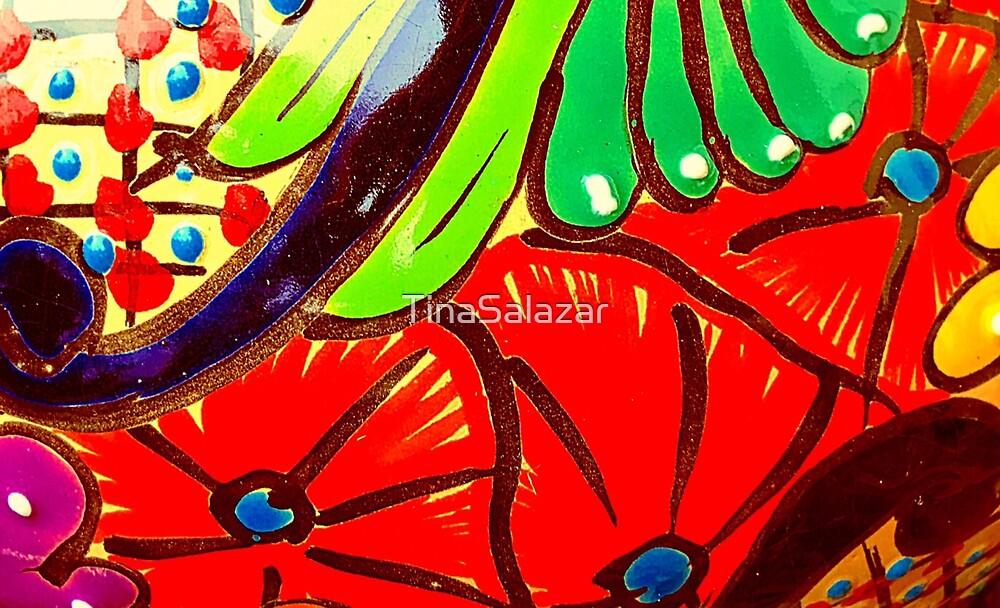 Red Poppies Talavera by TinaSalazar