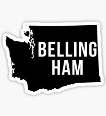 Bellingham, Washington Silhouette Sticker